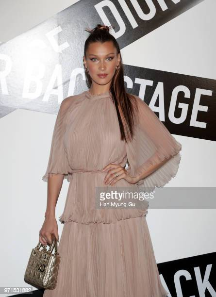 Bella Hadid Face of Dior Makeup attends the Dior Backstage launch party at EDIT on June 11 2018 in Seoul South Korea