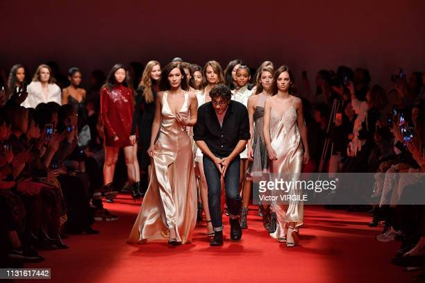 Bella Hadid fashion designer Lorenzo Serafini and models walk the runway at the Philosophy Di Lorenzo Serafini Ready to Wear Fall/Winter 20192020...
