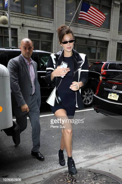 Bella Hadid is seen arriving at an office building on September 8 2018 in New York City