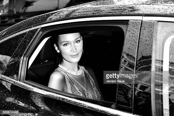 Bella Hadid is seen at Hotel Martinez during the annual 69th Cannes Film Festival at on May 11 2016 in Cannes France