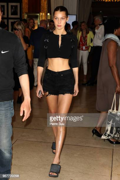 Bella Hadid is seen at 'Le Majestic' hotel during the 71st annual Cannes Film Festival at on May 12 2018 in Cannes France