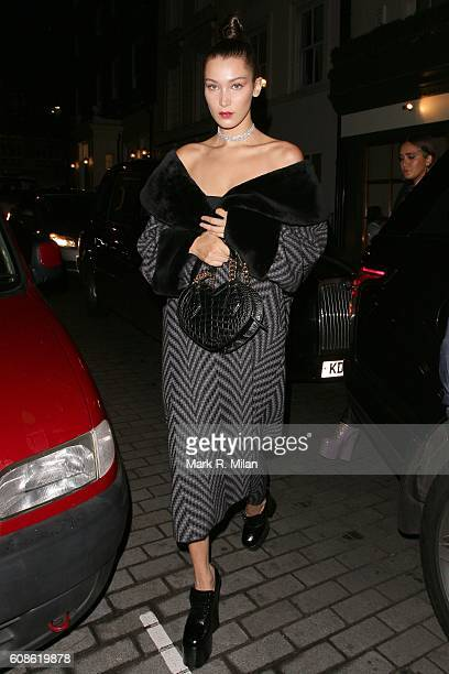 Bella Hadid is seen at Lou Lou's for the Love Magazine party on Day 4 of London Fashion Week Spring/Summer 2017 on September 19 2016 in London England