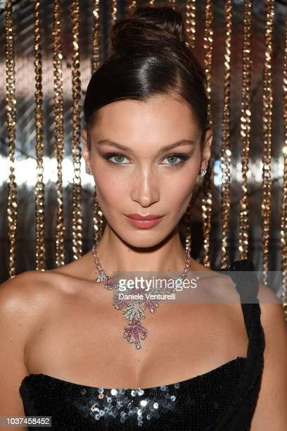 Bella Hadid is seen at the Bulgari Milan SS 2019 Dinner Party on September 21 2018 in Milan Italy