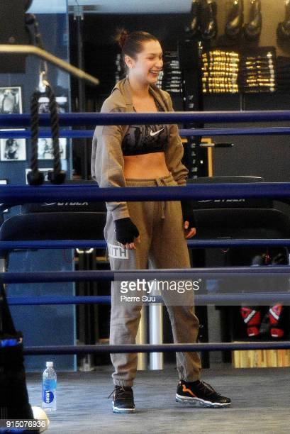 Bella Hadid is seen boxing on February 6 2018 in New York City