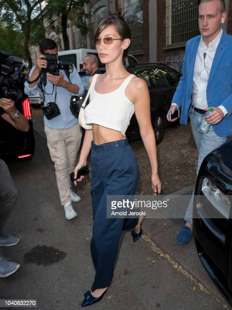 Bella Hadid is seen during Milan Fashion Week Spring/Summer 2019 on September 19 2018 in Milan Italy Photo by Arnold Jerocki/Getty Images