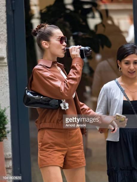 Bella Hadid is seen during Milan Fashion Week Spring/Summer 2019 on September 21 2018 in Milan Italy