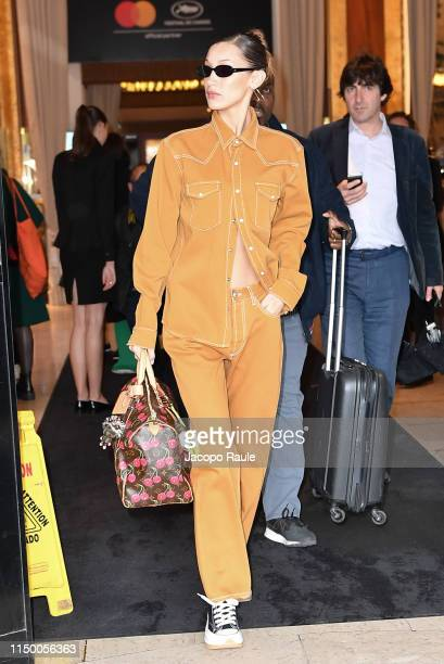 Bella Hadid is seen during the 72nd annual Cannes Film Festival at on May 18 2019 in Cannes France