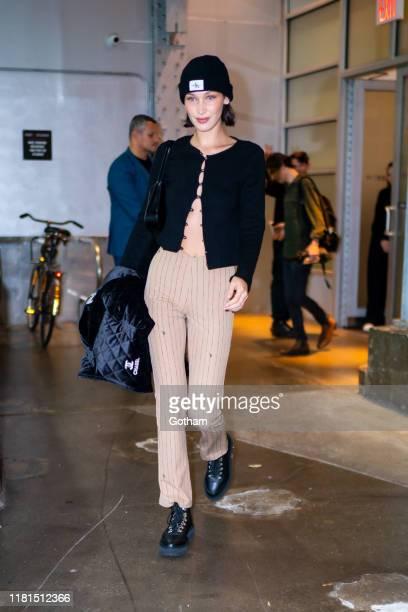 Bella Hadid is seen in Chelsea on October 16, 2019 in New York City.