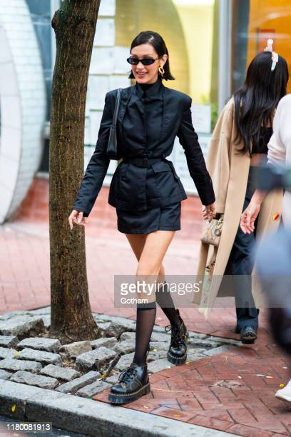 Bella Hadid is seen in Chinatown on October 09, 2019 in New York City.