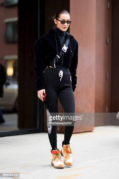 Bella Hadid is seen in NoHo on December 20 2017 in New York City