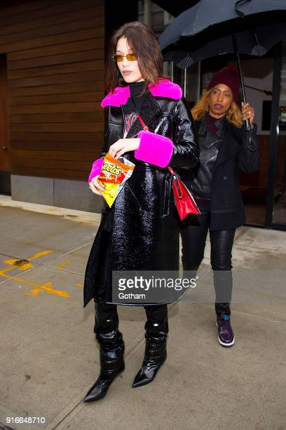 Bella Hadid is seen in NoHo on February 10 2018 in New York City