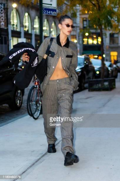 Bella Hadid is seen in NoHo on October 25 2019 in New York City
