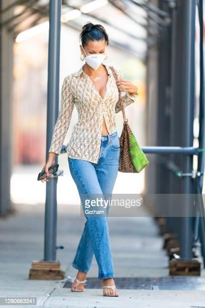 Bella Hadid is seen in Queens on July 27, 2020 in New York City.