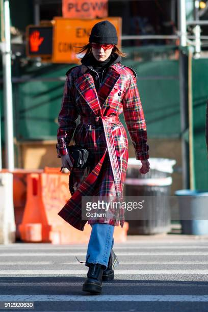 Bella Hadid is seen in Soho on January 31 2018 in New York City