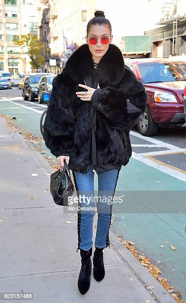 Bella Hadid is seen in Soho on November 14 2016 in New York City