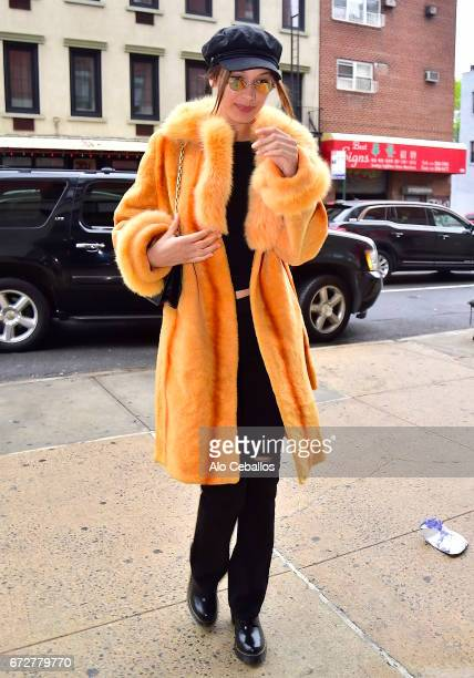 Bella Hadid is seen in the East Village on April 25 2017 in New York City