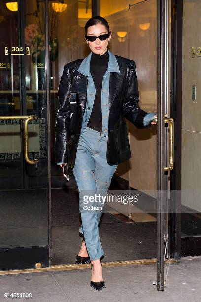 Bella Hadid is seen in the Flatiron District on February 5 2018 in New York City