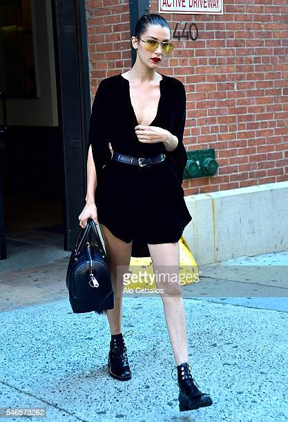 Bella Hadid is seen in the Meat Packing District on July 12 2016 in New York City