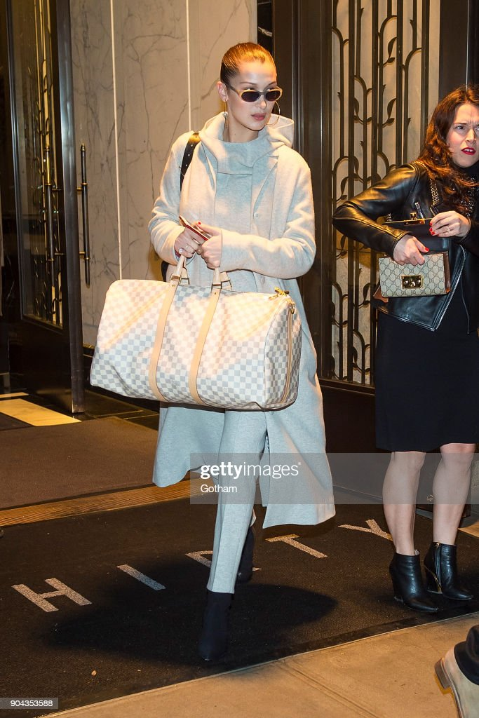 Bella Hadid is seen in Tribeca on January 12, 2018 in New York City.