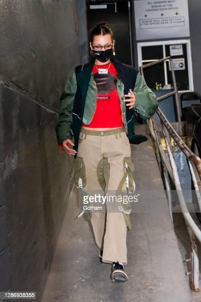 Bella Hadid is seen in Tribeca on November 21, 2020 in New York City.