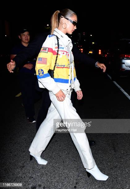 Bella Hadid is seen leaving a party at Cipriani on September 8 2019 in New York City
