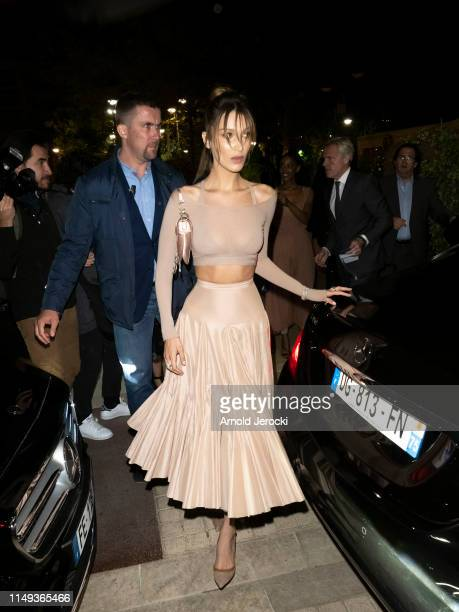 Bella Hadid is seen leaving the Dior Dinner during the 72nd annual Cannes Film Festival on May 15 2019 in Cannes France