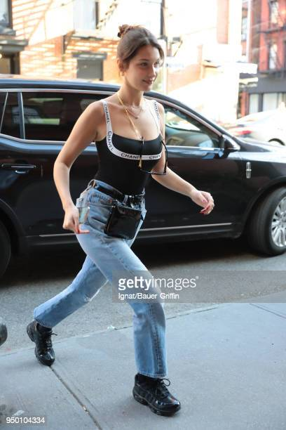 Bella Hadid is seen on April 22 2018 in New York City