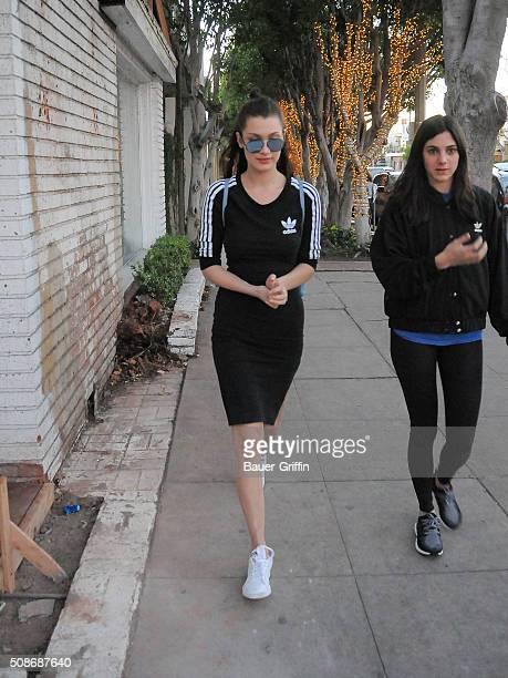 Bella Hadid is seen on February 05 2016 in Los Angeles California