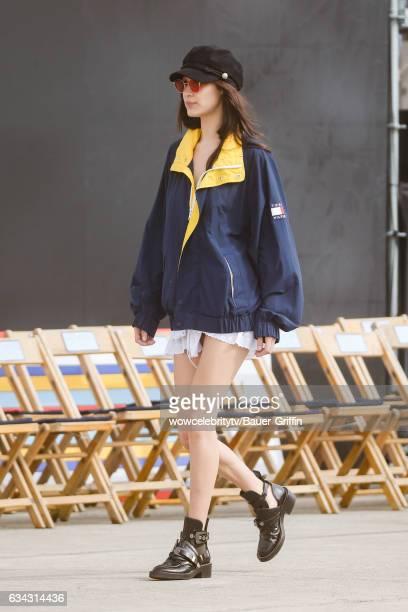Bella Hadid is seen on February 08 2017 in Los Angeles California