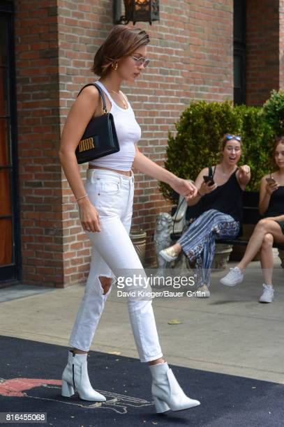 Bella Hadid is seen on July 17 2017 in New York City