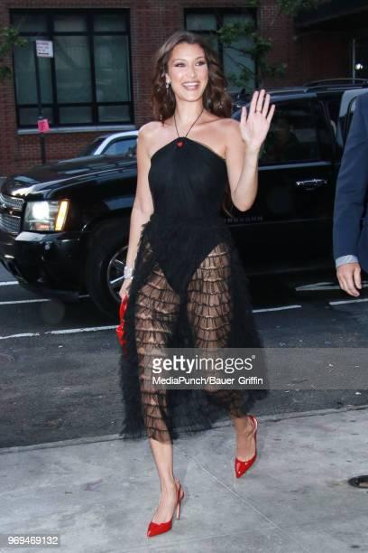 Bella Hadid is seen on June 07 2018 in New York City