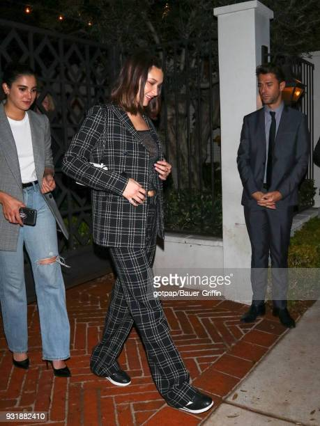 Bella Hadid is seen on March 13 2018 in Los Angeles California