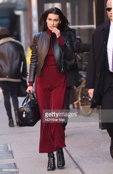 Bella Hadid is seen on March 21 2017 in New York City