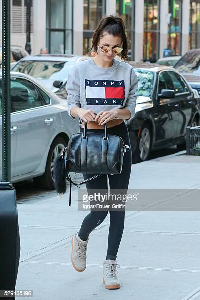 Bella Hadid is seen on May 08 2016 in New York City