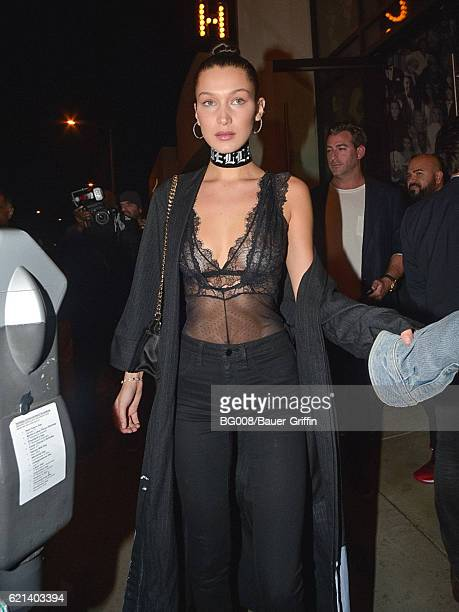 Bella Hadid is seen on November 06 2016 in Los Angeles California