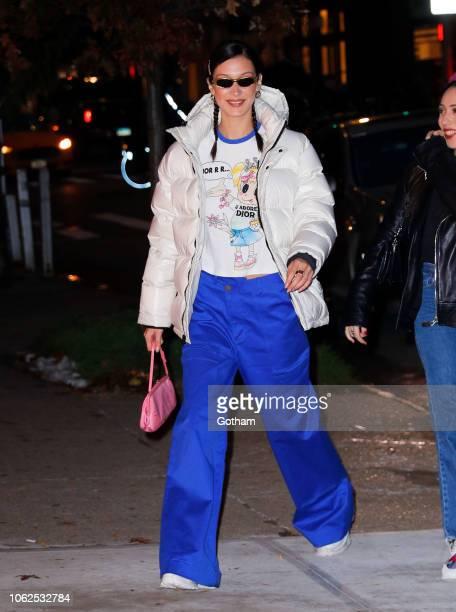 Bella Hadid is seen on November 16 2018 in New York City