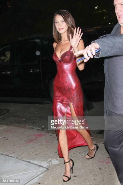 Bella Hadid is seen on November 28 2017 in New York City