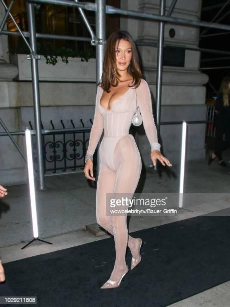 Bella Hadid is seen on September 07 2018 in New York City