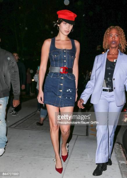 Bella Hadid is seen on September 08 2017 in New York City