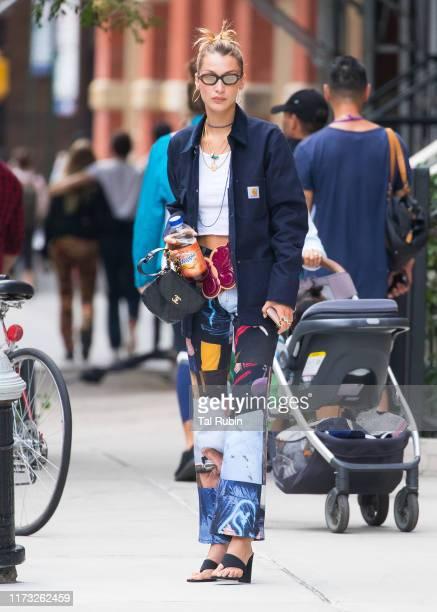 Bella Hadid is seen on September 08 2019 in New York City