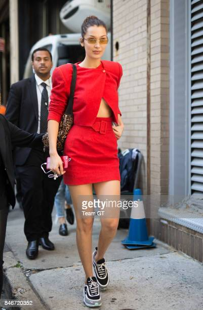 Bella Hadid is seen on September 13 2017 in New York City