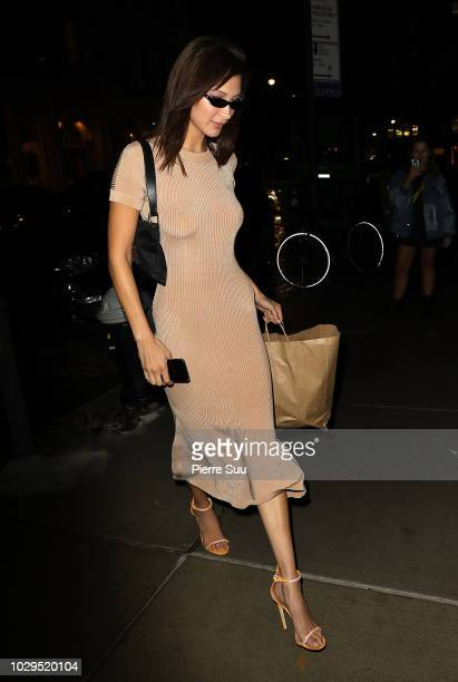 Bella Hadid is seen on September 8 2018 in New York City