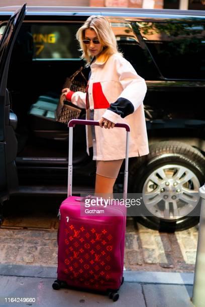 Bella Hadid is seen wearing Diesel in Tribeca on July 25 2019 in New York City