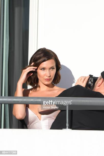 Bella Hadid is spotted during the 70th annual Cannes Film Festival on May 17 2017 in Cannes France
