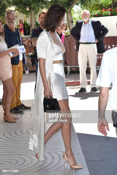 Bella Hadid is spotted leaving Hotel Martinez during the 70th annual Cannes Film Festival at on May 17 2017 in Cannes France