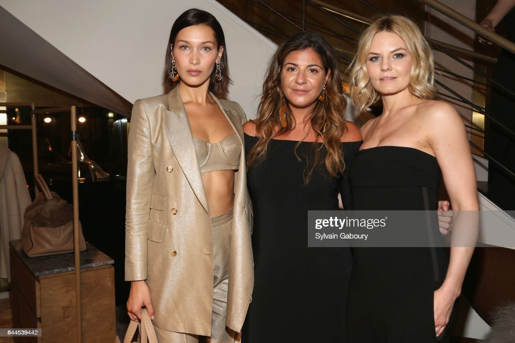 Bella Hadid, Maria Giulia Maramotti and Jennifer Morrison attend Max Mara Celebrates Madison Avenue Boutique Reopening on September 8, 2017 in New York City.