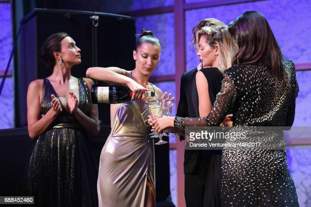 Bella Hadid on stage at the amfAR Gala Cannes 2017 at Hotel du CapEdenRoc on May 25 2017 in Cap d'Antibes France