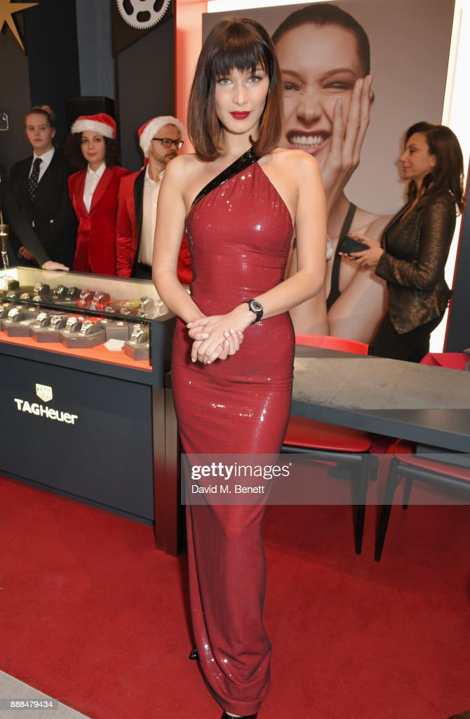 Bella Hadid Opens The TAG Heuer Flagship Store On Oxford Street