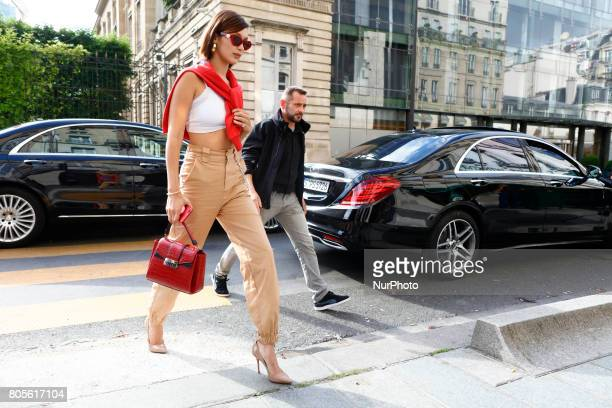 Bella Hadid out and about in Paris France on July 1 2017