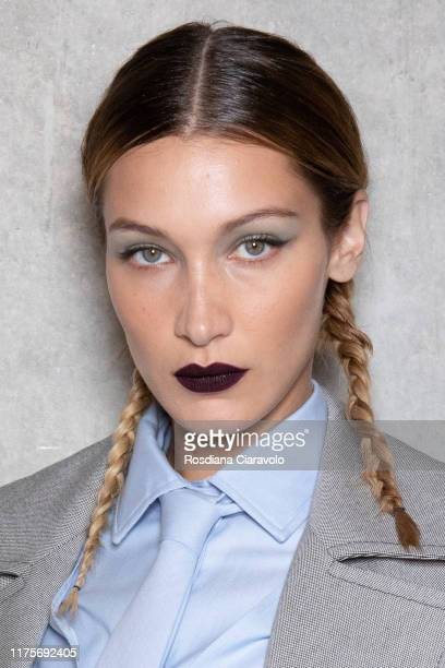 Bella Hadid poses during the backstage for Max Mara fashion show during the Milan Fashion Week Spring/Summer 2020 on September 19 2019 in Milan Italy